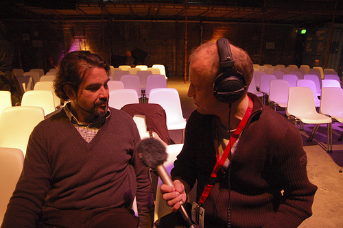 Edward Shanken interviewed by Peter Troxler, Photo by Anne Helmond
