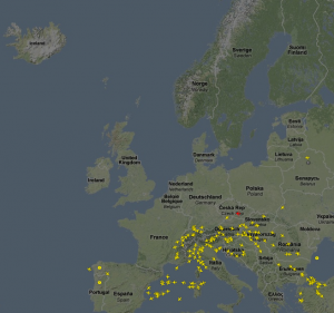 Airspace Europe  at 08:15z, April 16th